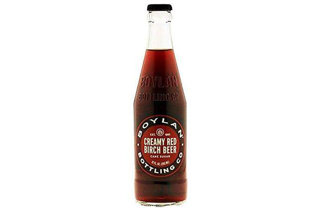 Boylan Creamy Red Birch Beer Soda, 12 fl oz (24 Glass Bottles)