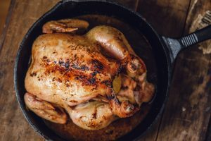 Pan Roasted Chicken / Top View