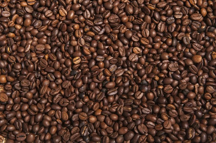 Close-up of coffee beans background.
