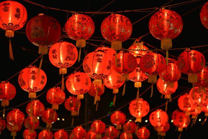 Chinese New Year light burst