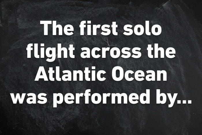 first solo flight across atlantic