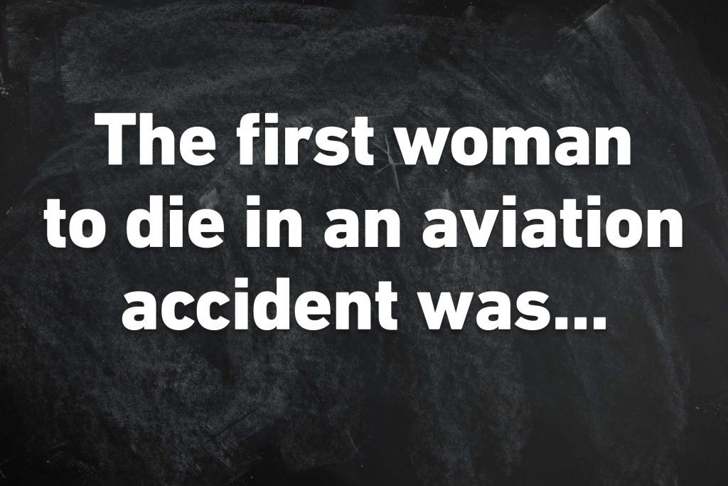 first woman die aviation accident
