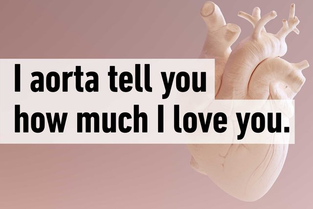 I aorta tell you how much I love you.