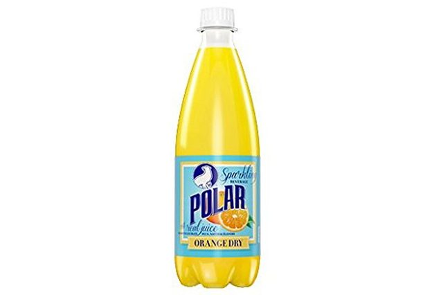 Polar Beverage Orange Dry Soda 20 oz pet pack of 24