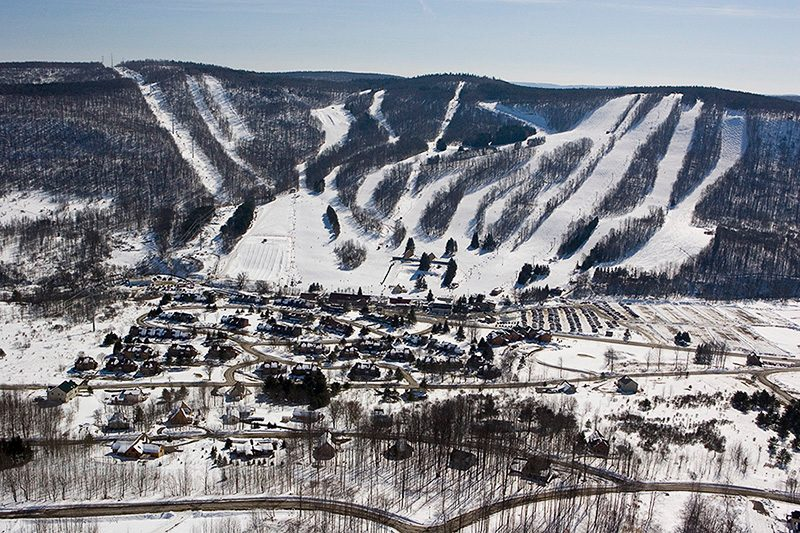North America, USA, New York State, Finger Lakes Region, Greek Peak Mountain Resort