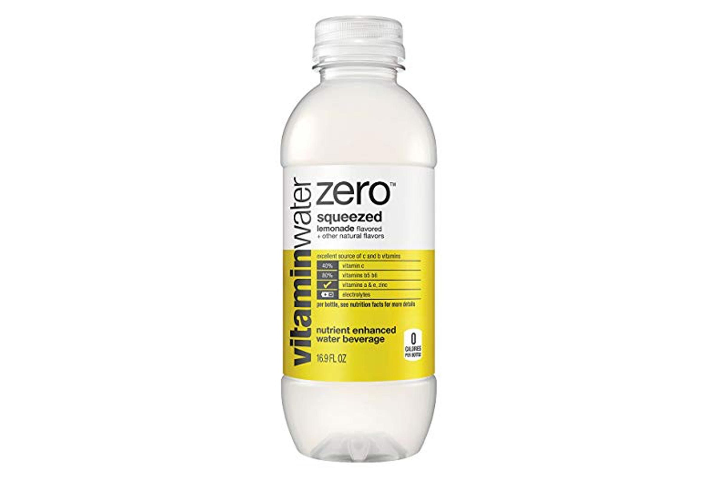 vitaminwater zero squeezed, electrolyte enhanced water w/ vitamins, lemonade drinks, 16.9 fl oz, 6 Pack