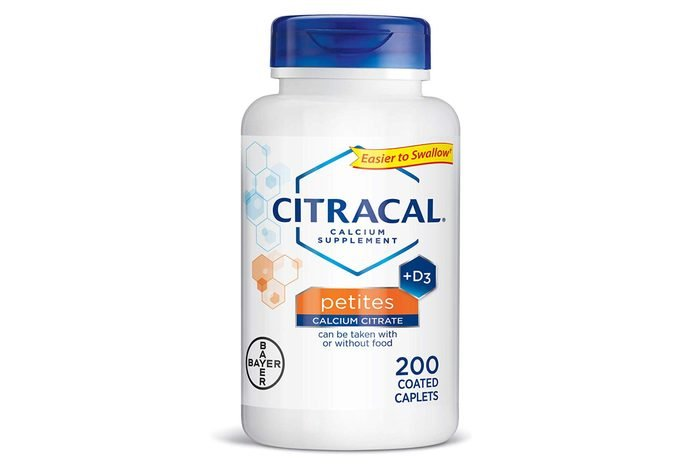 Citracal Petites, Highly Soluble, Easily Digested, 400 mg Calcium Citrate With 500 IU Vitamin D3, Bone Health Supplement for Adults, Relatively Small Easy-to-Swallow Caplets, 200 Count