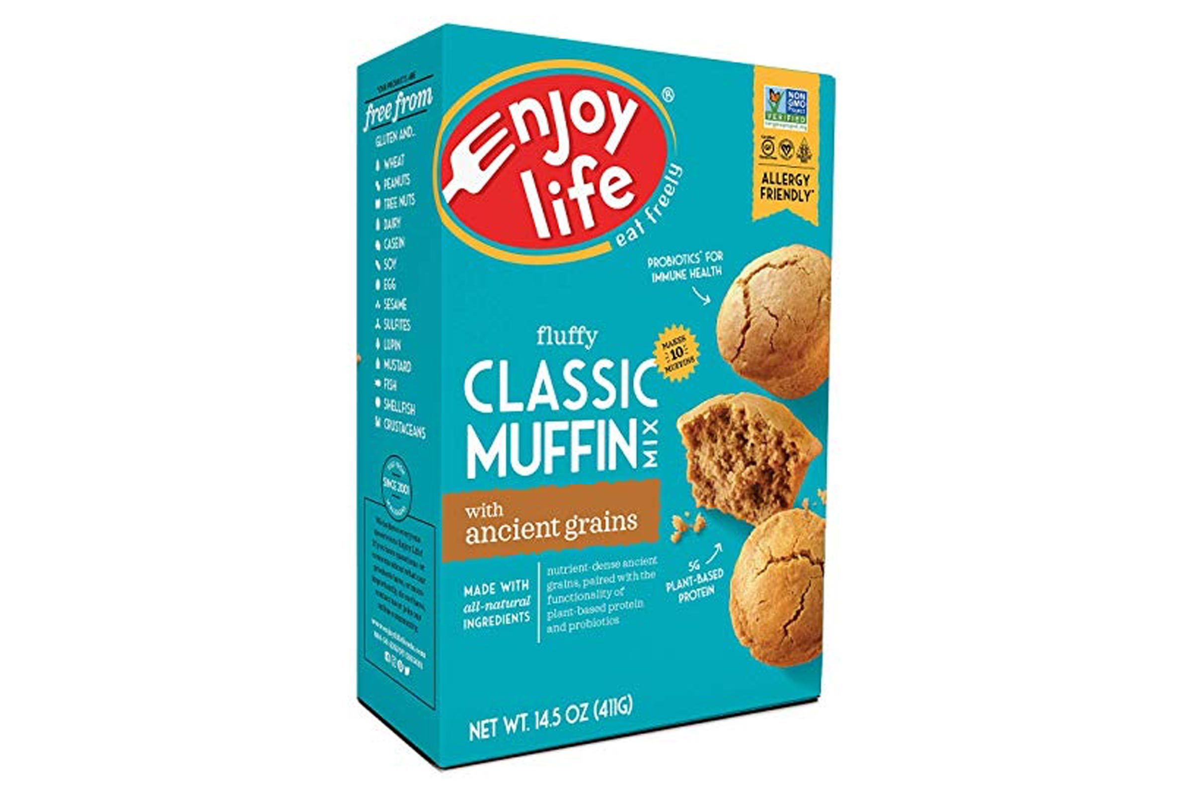 Enjoy Life Baking Mixes, Soy free, Nut free, Gluten free, Dairy free, Non GMO, Vegan, Muffin Mix, 14.5 Ounce Box