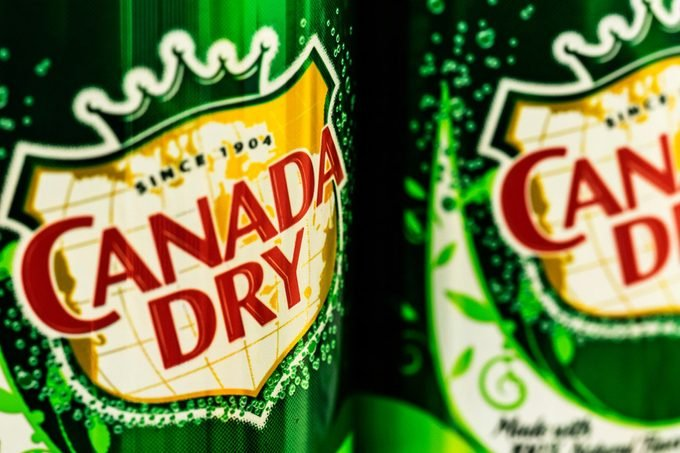 Cans of Canada Dry Ginger Ale.