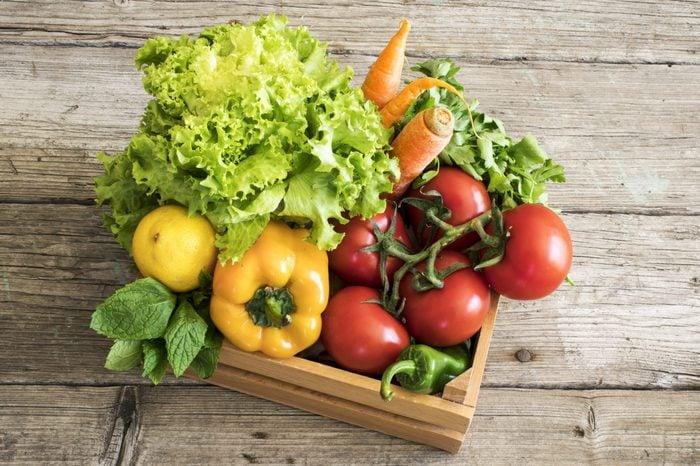 box of produce donate