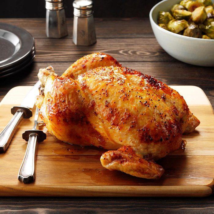 glazed roast chicken