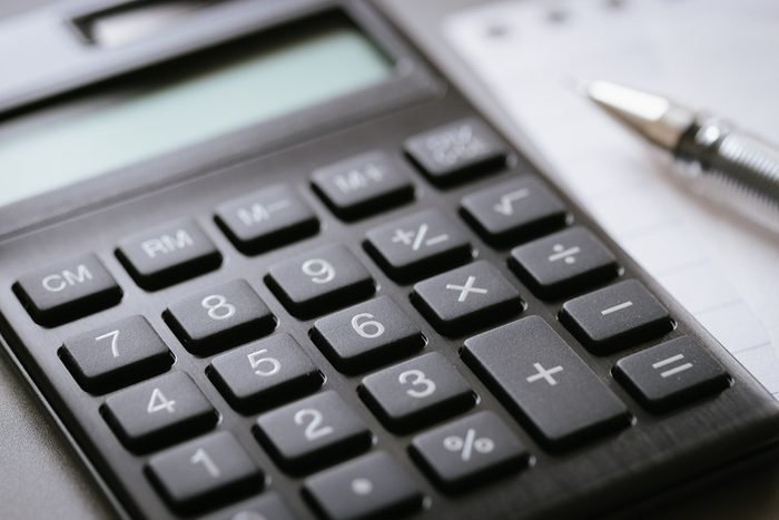 calculator, notepad and pen. business finance accounting concept.