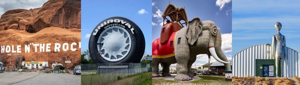 Rock in Utah, Tire, Elephant, Alien Lands near Area 51
