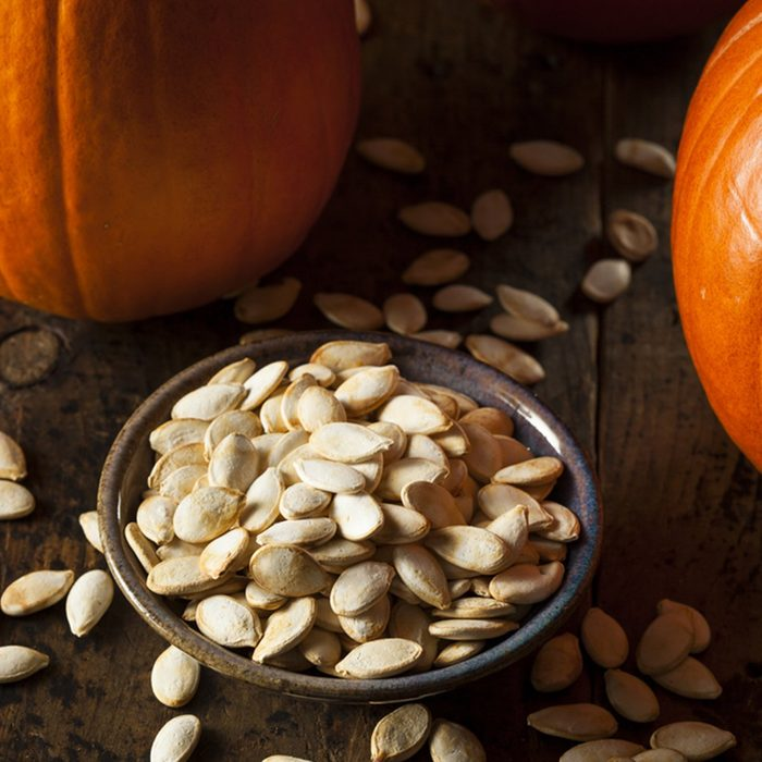 Roasted Salty Pumpkin Seeds Ready to Eat