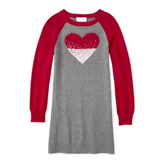 sequin heart sweater