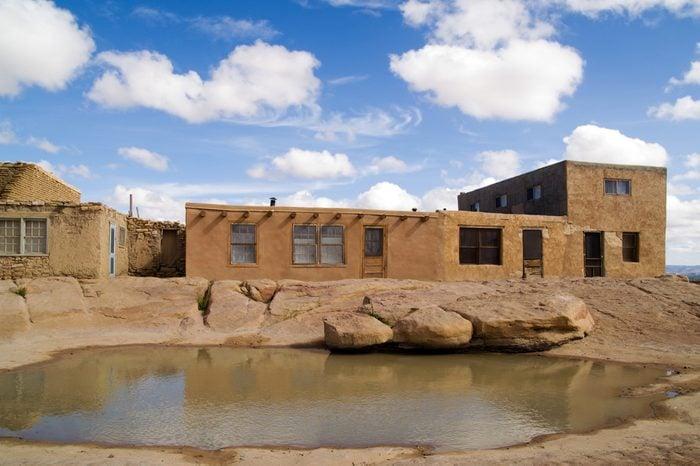 Fresh water pool in a pueblo