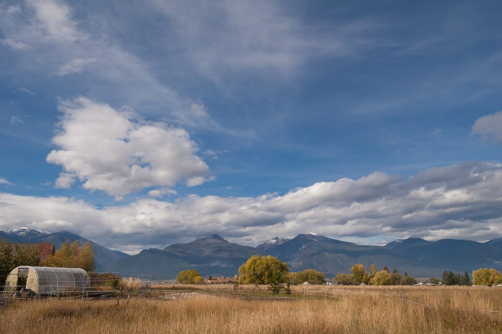 Bitterroot mountains in Stevensville, Montana/ Bitterroot