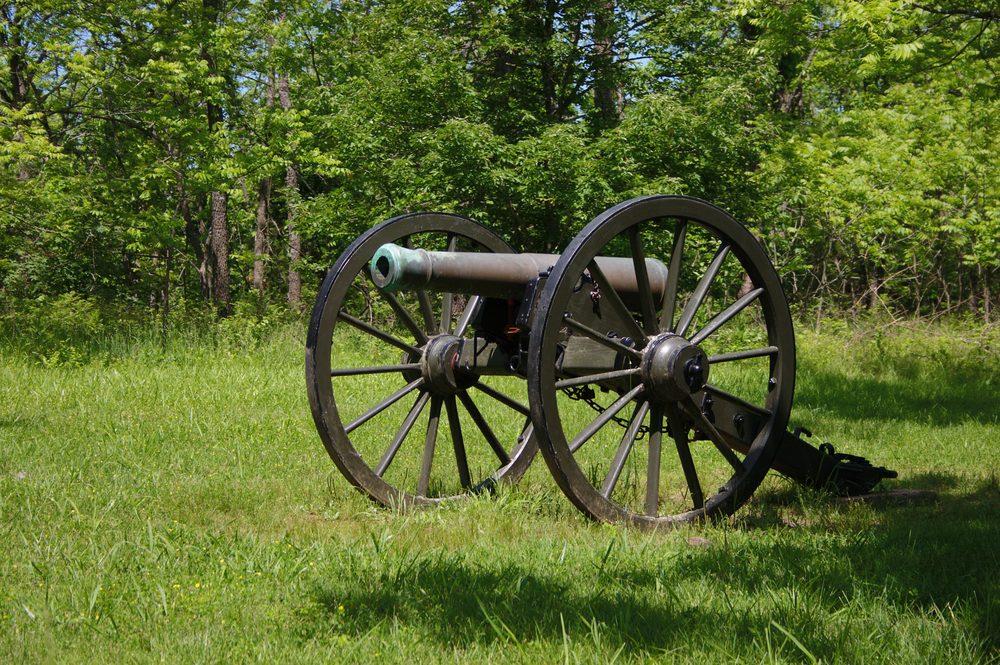 Civil War Cannon at Pulaski Arkansas Battery, Wilsons Creek, MO