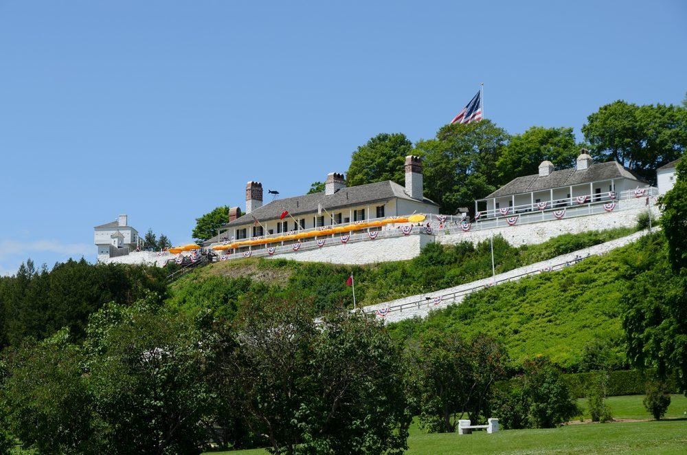 Historic fort on Mackinac Island, Michigan