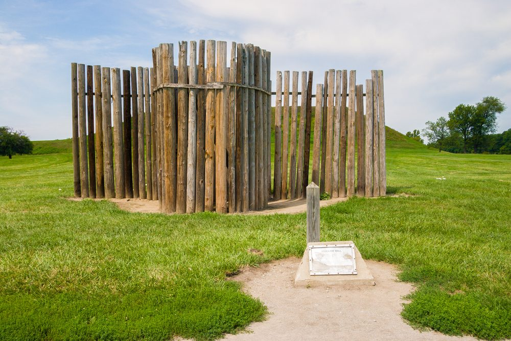 remains of the stockade wall at Cahokia Mounds Historic Site