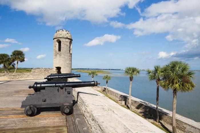 Canons at Castillo de San Marcos, St. Augustine, Florida