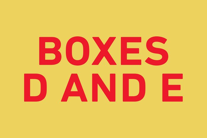 Boxes D and E, which give you a probability of 13/27 (48 percent) of getting a red ball.