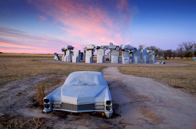 Carhenge Stonehenge-inspired tribute in Alliance, Nebraska
