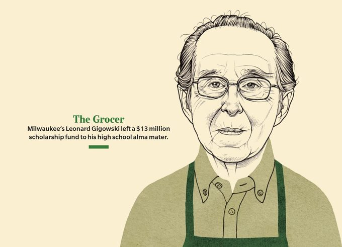 The Grocer Milwaukee's Leonard Gigowski left a $13 million scholarship fund to his high school alma mater.