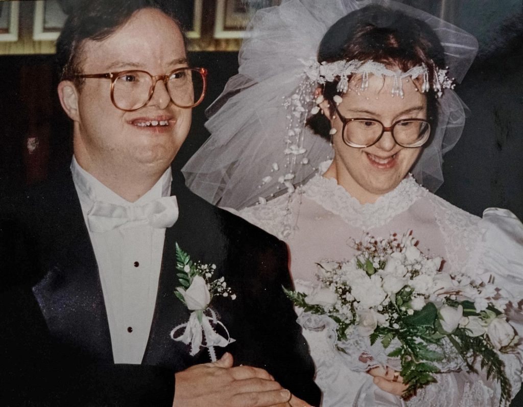 Image of Kris and Paul on their wedding day.