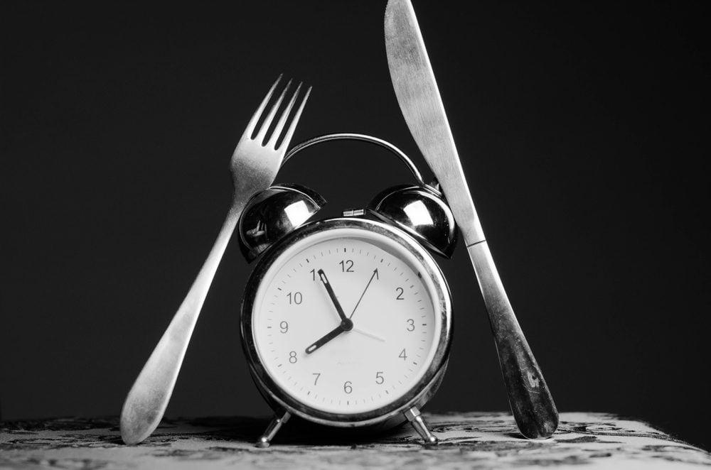 alarm clock fork and knife