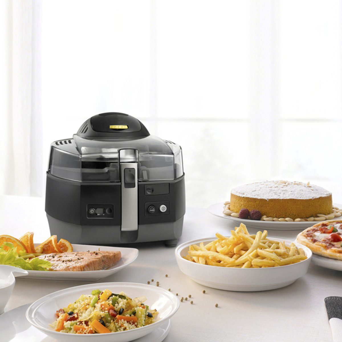 air fryer with foods