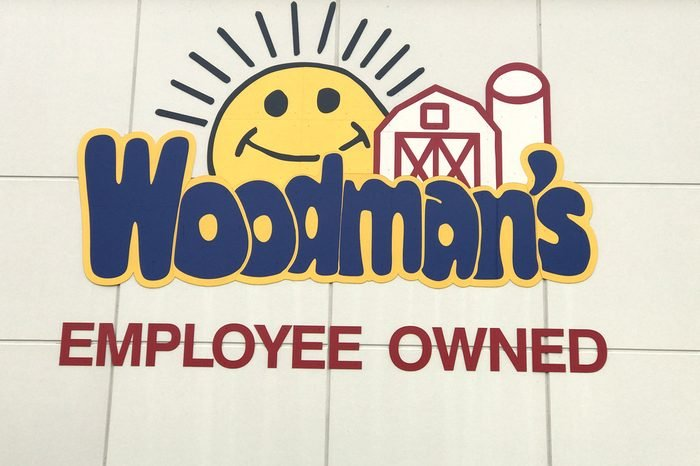 Altoona, Wisconsin, October, 13, 2017 Woodman's Grocery Store sign on a building front Woodman's is a modern day large grocery chain