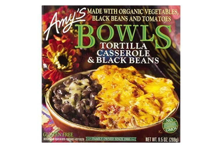 Amy's Bowls, Tortilla Casserole & Black Beans Bowl, 9.5 Ounce (Frozen)