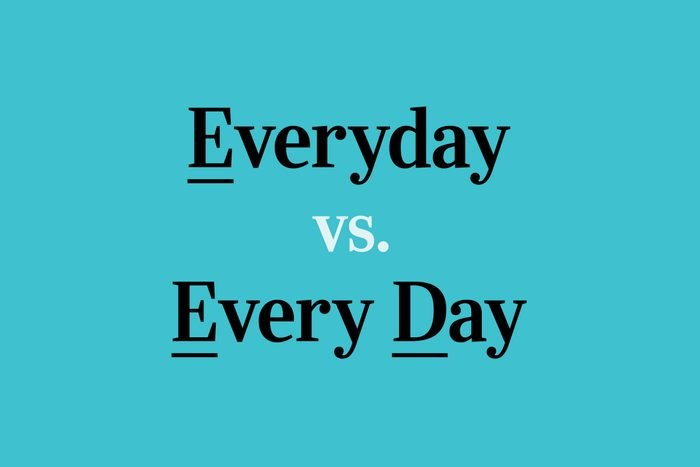 text: everyday vs every day