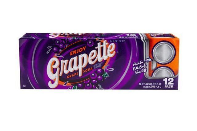 Grapette Grape Soda - 12 oz cans - 12pk