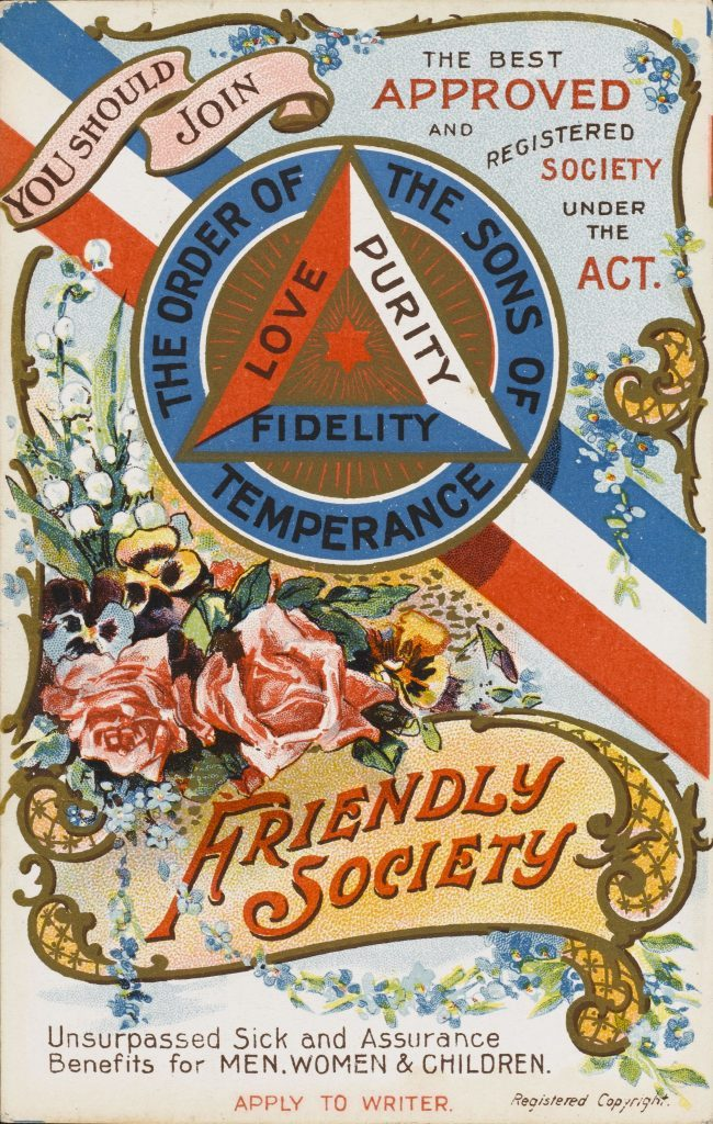 Historical Collection 98 The Order of the Sons of Temperance Friendly Society - Unsurpassed Sick and Assurance Benefits For Men Women and Children (1 of 2) circa 1910