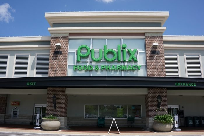 JACKSONVILLE, FL - MAY 13, 2014: A Publix Supermarket in Jacksonville. Publix has operations in six states and employs over 140,000 people at its 1,080 retail locations, and nine distribution centers.