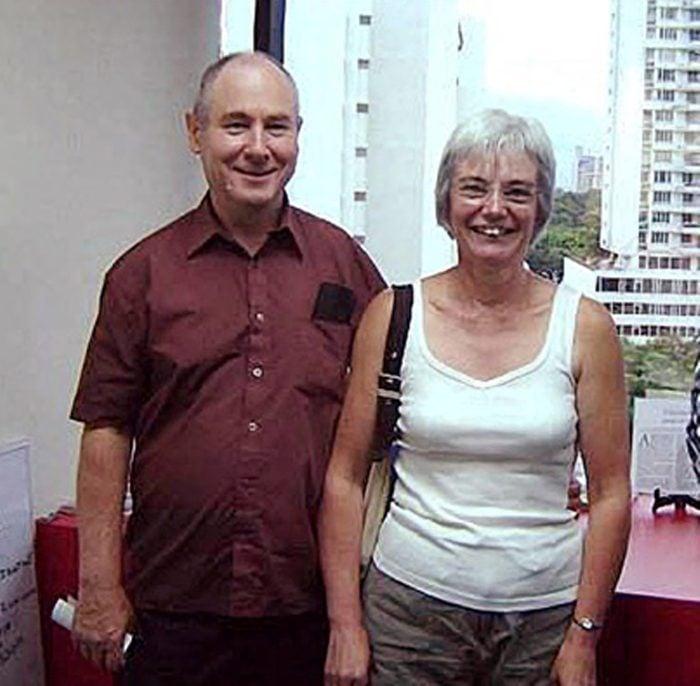 John Darwin and his wife Anne, Panama City, Panama - 2006