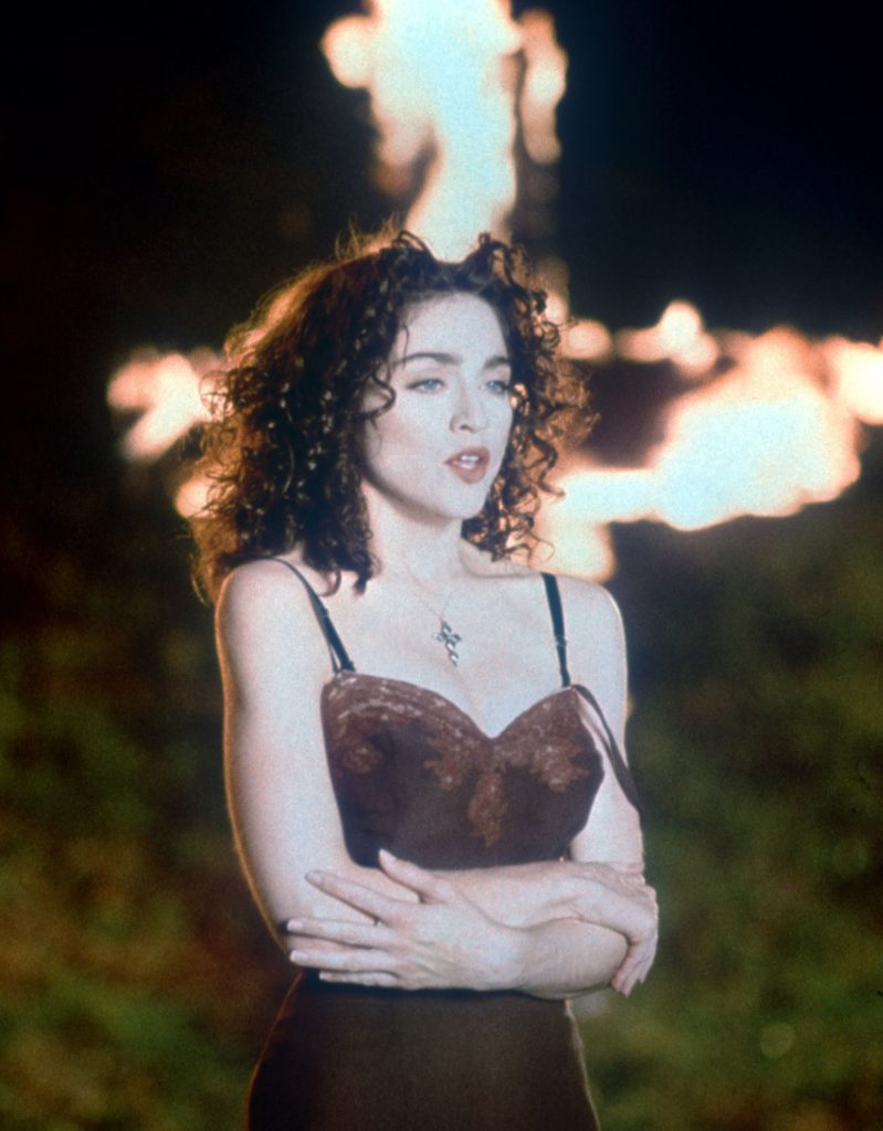 "Madonna in the Video for "" Like a Prayer "" - 1989"