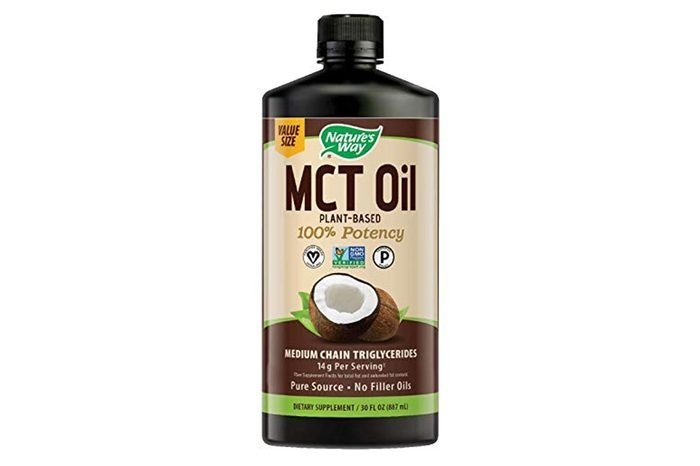 Nature's Way 100% Potency Pure Source MCT Oil From Coconut- Certified Paleo, Certified Vegan- Non-GMO Project Verified, Vegetarian, Gluten-free, Flavorless, No Filler Oils, Hexane-free- 30 Fluid Ounce