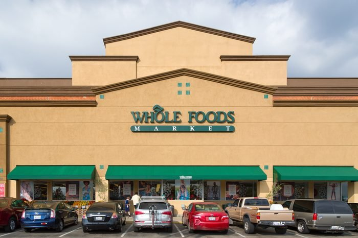 PASADENA, CA/USA - NOVEMBER 15, 2014: Whole Food Market exterior. Whole Foods is an American foods supermarket chain specializing in natural and organic foods.