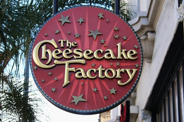 Pasadena, California, USA - November 15, 2015: The Cheesecake Factory is a distributor of cheesecakes and restaurant in the United States.