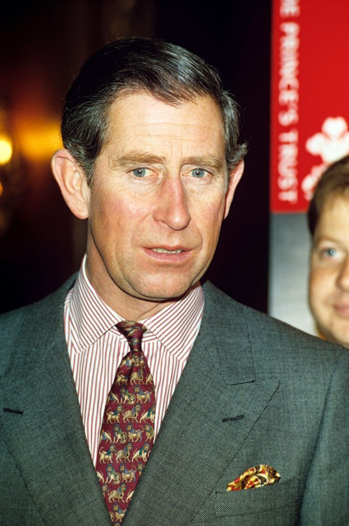PRINCE CHARLES SPEAKING TO PRINCES TRUST CHARITY VOLUNTEERS AT THE MERCHANT TAYLORS HALL, LONDON, BRITAIN - DEC 1997