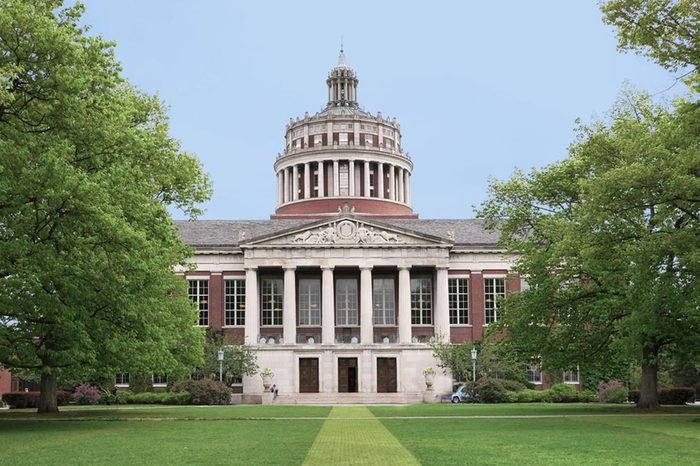 ROCHESTER, NY - MAY 2017: The University of Rochester, benefiting from industrial donors, has notable programs in technological subjects.