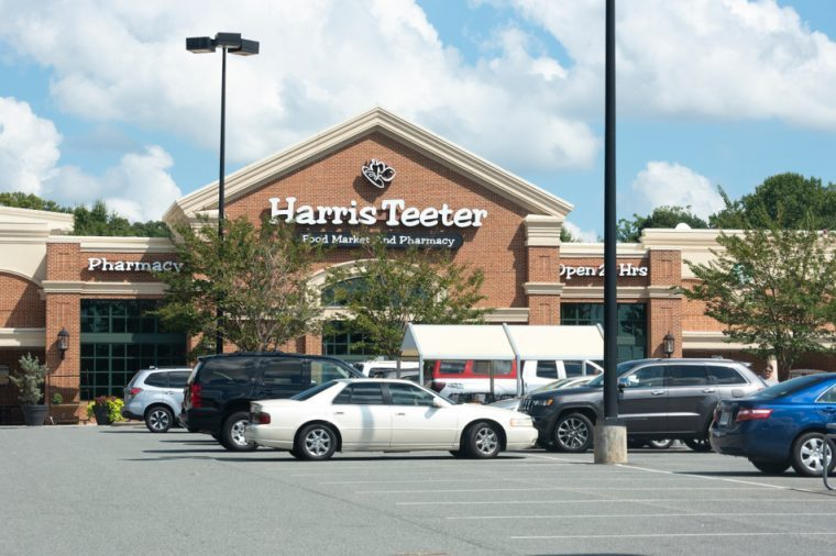 Raleigh, NC/United States- 09/05/2018: The exterior of a Harris Teeter retail location in North Raleigh.