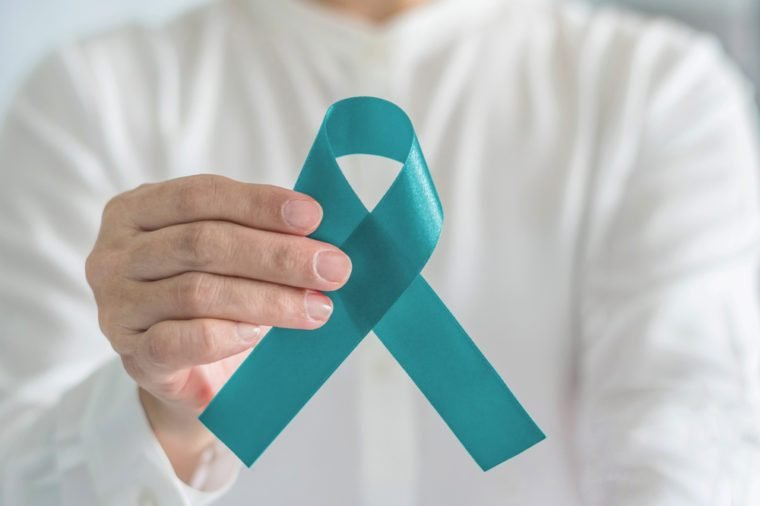 Teal awareness ribbon bow color for Ovarian Cancer, Polycystic Ovary Syndrome (PCOS) and Post Traumatic Stress Disorder (PTSD) Illness support
