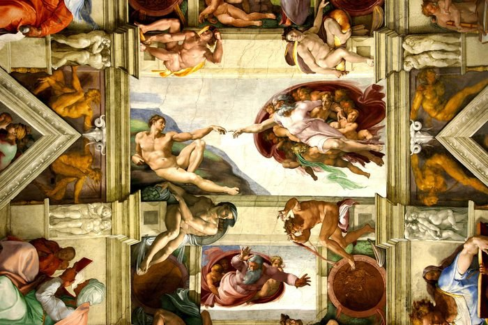 VARIOUS Fresco Ceiling Sistine chapel creation of Adam vatican Rome Italy