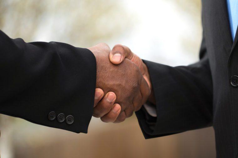Businessmen making a deal