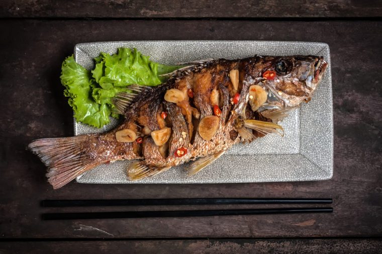Whole fish fried
