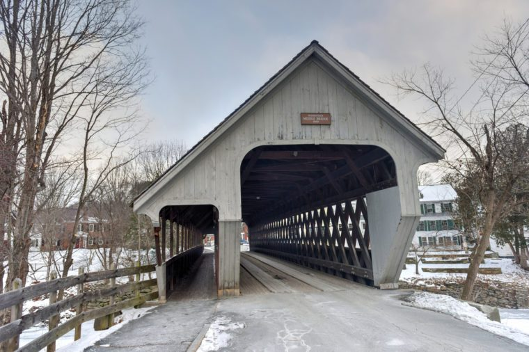 Middle Covered Bridge in Woodstock, Vermont.